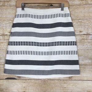 Zara  Woven Knit Striped A-line Skirt